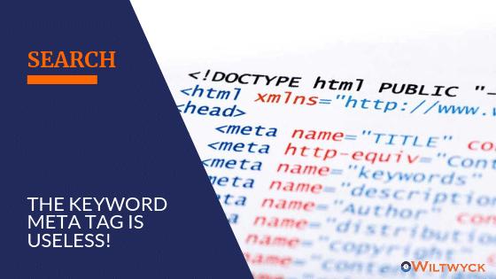Is the keyword meta tag useless