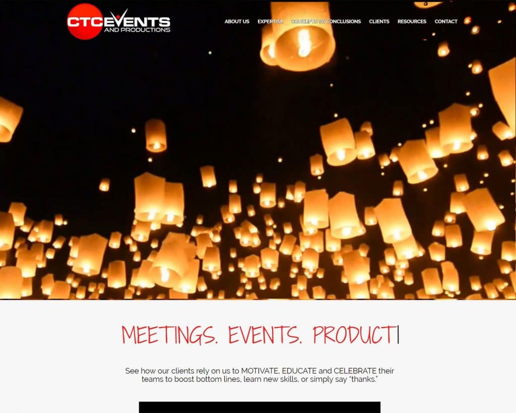 website design portfolio - CTC Event