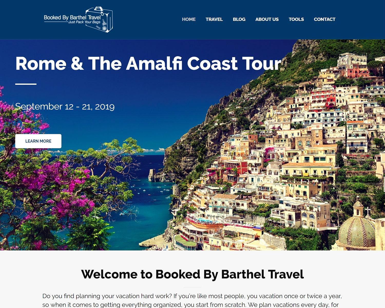 website design portfolio - Booked By Barthel