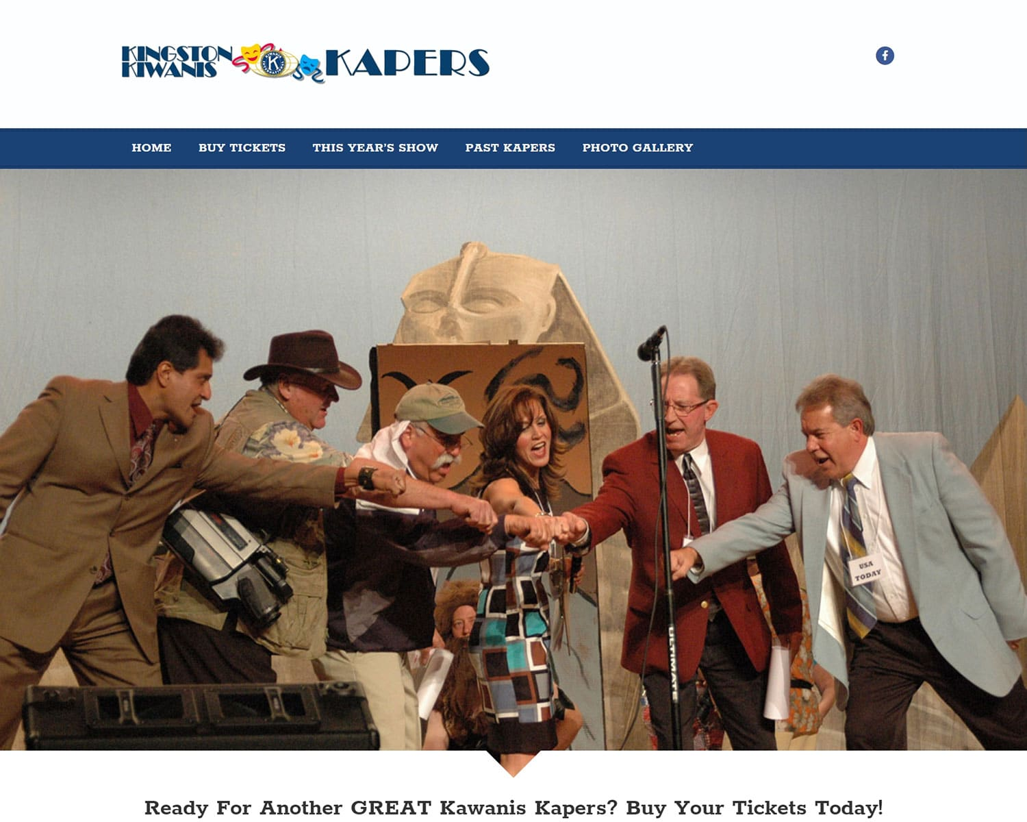 website design portfolio - Kiwanis Kapers