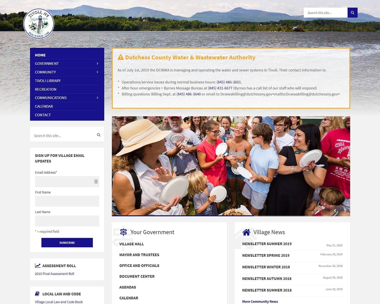 website design portfolio - Tivoli