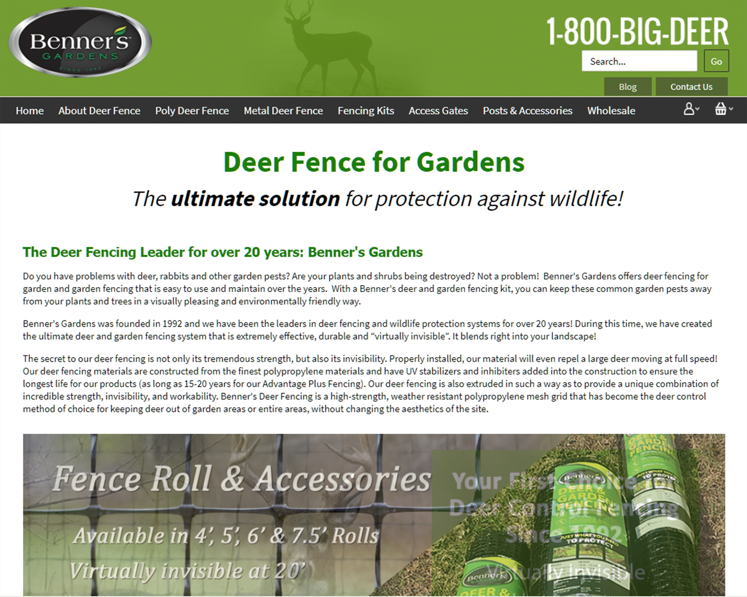 SEO Case Study for Benners Garden