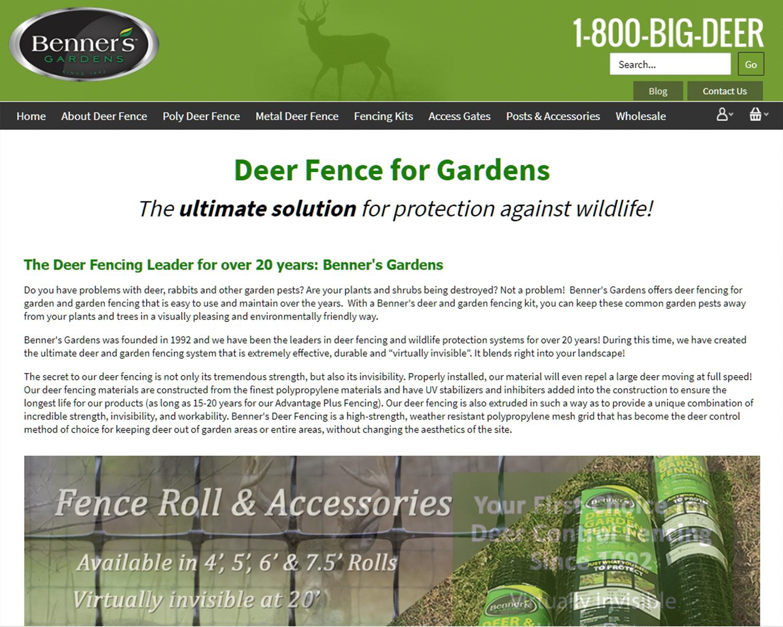 SEO Case Study for Benners Garden