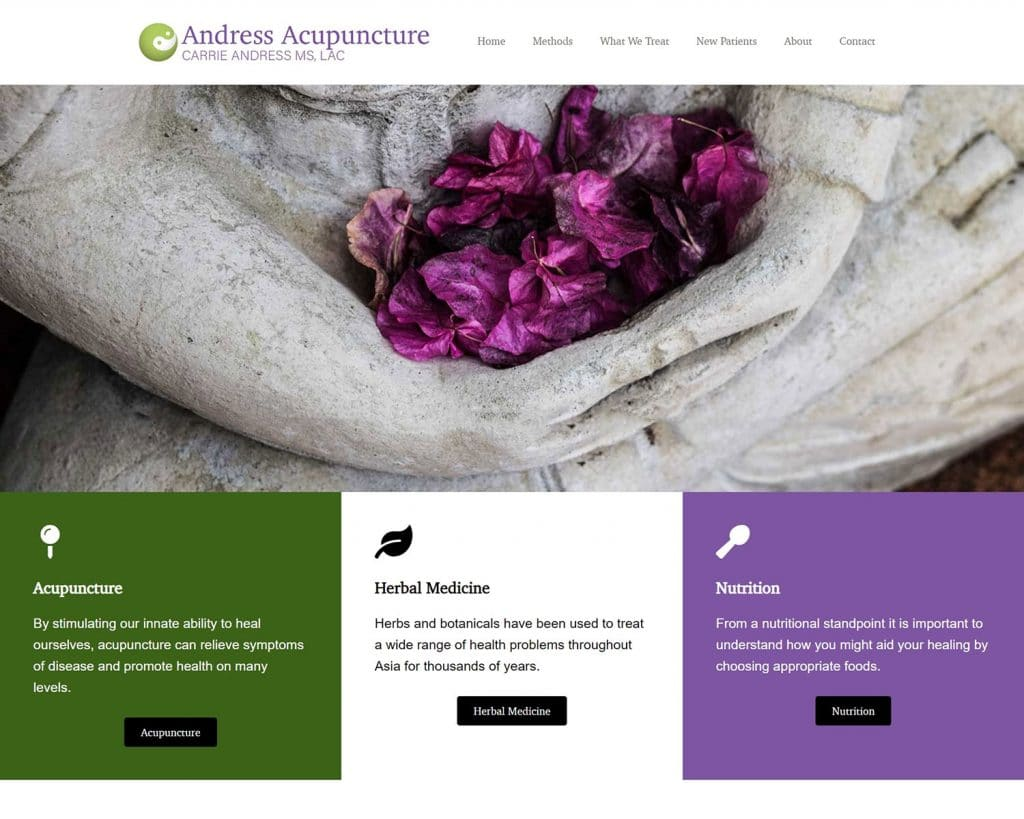 Andress Acupuncture Website