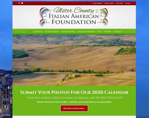 website design portfolio - UCIAF